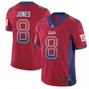 Wholesale Cheap Nike Giants #8 Daniel Jones Red Alternate Men's Stitched NFL Limited Rush Drift Fashion Jersey