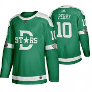Wholesale Cheap Adidas Stars #10 Corey Perry Green Authentic 2020 Winter Classic Stitched NHL Jersey