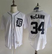 Wholesale Tigers #34 James McCann White Flexbase Authentic Collection Stitched Baseball Jersey