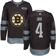 Wholesale Cheap Adidas Bruins #4 Bobby Orr Black 1917-2017 100th Anniversary Stitched NHL Jersey