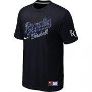 Wholesale Cheap MLB Kansas City Royals Black Nike Short Sleeve Practice T-Shirt