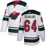 Wholesale Cheap Adidas Wild #64 Mikael Granlund White Road Authentic Stitched Youth NHL Jersey