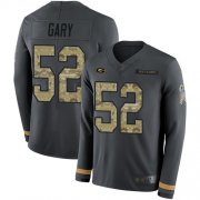 Wholesale Cheap Nike Packers #52 Rashan Gary Anthracite Salute to Service Men's Stitched NFL Limited Therma Long Sleeve Jersey