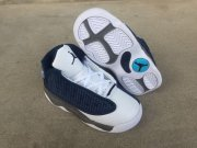 Wholesale Cheap Little Kids Jordan 13 Shoes Blue White Grey