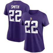 Wholesale Cheap Minnesota Vikings #22 Harrison Smith Nike Women's Team Player Name & Number T-Shirt Purple