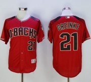 Wholesale Cheap Diamondbacks #21 Zack Greinke Red/Brick New Cool Base Stitched MLB Jersey