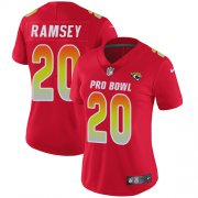 Wholesale Cheap Nike Jaguars #20 Jalen Ramsey Red Women's Stitched NFL Limited AFC 2019 Pro Bowl Jersey