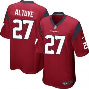 Wholesale Cheap Nike Texans #27 Jose Altuve Red Alternate Youth Stitched NFL Elite Jersey