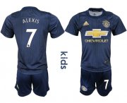 Wholesale Cheap Manchester United #7 Alexis Third Kid Soccer Club Jersey