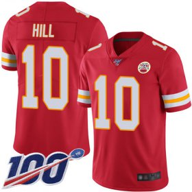 Wholesale Cheap Nike Chiefs #10 Tyreek Hill Red Team Color Men\'s Stitched NFL 100th Season Vapor Limited Jersey