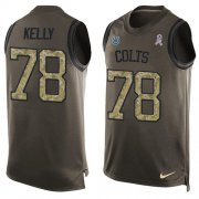 Wholesale Cheap Nike Colts #78 Ryan Kelly Green Men's Stitched NFL Limited Salute To Service Tank Top Jersey