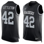 Wholesale Cheap Nike Raiders #42 Cory Littleton Black Team Color Men's Stitched NFL Limited Tank Top Jersey