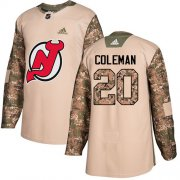 Wholesale Cheap Adidas Devils #20 Blake Coleman Camo Authentic 2017 Veterans Day Stitched NHL Jersey