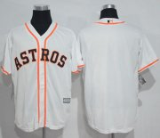 Wholesale Cheap Astros Blank White New Cool Base Stitched MLB Jersey