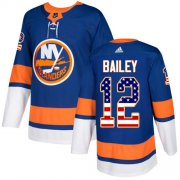 Wholesale Cheap Adidas Islanders #12 Josh Bailey Royal Blue Home Authentic USA Flag Stitched Youth NHL Jersey