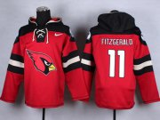 Wholesale Cheap Nike Cardinals #11 Larry Fitzgerald Red Player Pullover NFL Hoodie