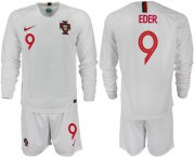 Wholesale Cheap Portugal #9 Eder Away Long Sleeves Soccer Country Jersey