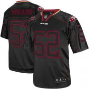 Wholesale Cheap Nike 49ers #52 Patrick Willis Lights Out Black Youth Stitched NFL Elite Jersey