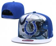 Wholesale Cheap Colts Team Logo Blue Adjustable Leather Hat TX