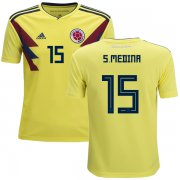 Wholesale Cheap Colombia #15 S.Medina Home Kid Soccer Country Jersey