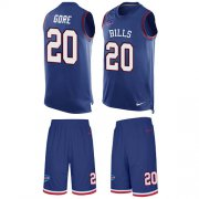 Wholesale Cheap Nike Bills #20 Frank Gore Royal Blue Team Color Men's Stitched NFL Limited Tank Top Suit Jersey