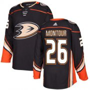 Wholesale Cheap Adidas Ducks #26 Brandon Montour Black Home Authentic Youth Stitched NHL Jersey