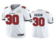 Wholesale Cheap Men's Tampa Bay Buccaneers #30 Ke'Shawn Vaughn White 2021 Super Bowl LV Limited Stitched NFL Jersey
