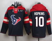 Wholesale Cheap Nike Texans #10 DeAndre Hopkins Navy Blue Player Pullover NFL Hoodie