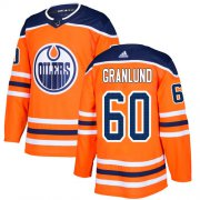 Wholesale Cheap Adidas Oilers #60 Markus Granlund Orange Home Authentic Stitched NHL Jersey