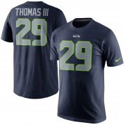 Wholesale Cheap Seattle Seahawks #29 Earl Thomas Nike Player Pride Name & Number T-Shirt Navy