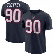 Wholesale Cheap Houston Texans #90 Jadeveon Clowney Nike Player Pride Name & Number Performance T-Shirt Navy