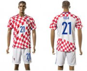 Wholesale Cheap Croatia #21 Vida Home Soccer Country Jersey