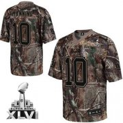 Wholesale Cheap Giants #10 Eli Manning Camouflage Realtree Collection Super Bowl XLVI Embroidered NFL Jersey