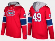 Wholesale Cheap Canadiens #49 Logan Shaw Red Name And Number Hoodie