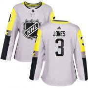 Wholesale Cheap Adidas Blue Jackets #3 Seth Jones Gray 2018 All-Star Metro Division Authentic Women's Stitched NHL Jersey