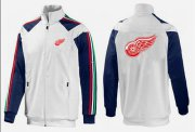 Wholesale Cheap NHL Detroit Red Wings Zip Jackets White-2