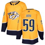 Wholesale Cheap Adidas Predators #59 Roman Josi Yellow Home Authentic Stitched Youth NHL Jersey