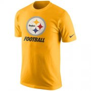 Wholesale Cheap Pittsburgh Steelers Nike Facility T-Shirt Gold