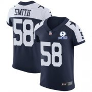 Wholesale Cheap Nike Cowboys #58 Aldon Smith Navy Blue Thanksgiving Men's Stitched With Established In 1960 Patch NFL Vapor Untouchable Throwback Elite Jersey