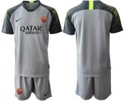 Wholesale Cheap Roma Blank Grey Goalkeeper Soccer Club Jersey