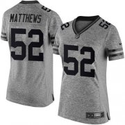 Wholesale Cheap Nike Packers #52 Clay Matthews Gray Women's Stitched NFL Limited Gridiron Gray Jersey