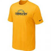 Wholesale Cheap Nike Los Angeles Chargers Authentic Logo NFL T-Shirt Yellow