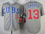 Wholesale Cubs #13 Starlin Castro Grey Alternate Road Cool Base Stitched Baseball Jersey