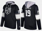 Wholesale Cheap Kings #19 Alex Iafallo Black Name And Number Hoodie