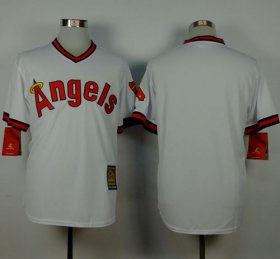 Wholesale Cheap Angels of Anaheim Blank White 1980 Turn Back The Clock Stitched MLB Jersey