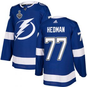 Wholesale Cheap Adidas Lightning #77 Victor Hedman Blue Home Authentic 2020 Stanley Cup Final Stitched NHL Jersey