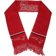 Wholesale Cheap New England Patriots Ladies Metallic Thread Scarf Red