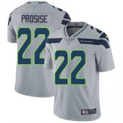 Wholesale Cheap Nike Seahawks #22 C. J. Prosise Grey Alternate Men's Stitched NFL Vapor Untouchable Limited Jersey