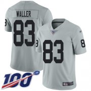 Wholesale Cheap Nike Raiders #83 Darren Waller Silver Men's Stitched NFL Limited Inverted Legend 100th Season Jersey