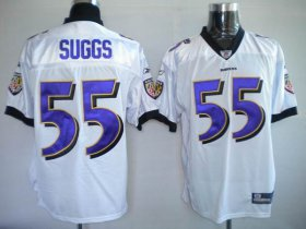 Wholesale Cheap Ravens #55 Terrell Suggs White Stitched NFL Jersey